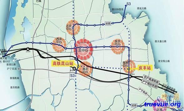 昆山地铁一号店S1线路图