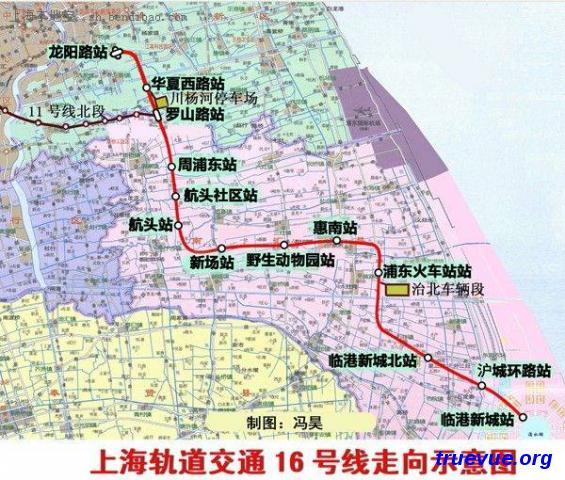 上海地铁16号线路线图