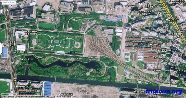 上海地铁4号线蒲汇塘车库卫星图片