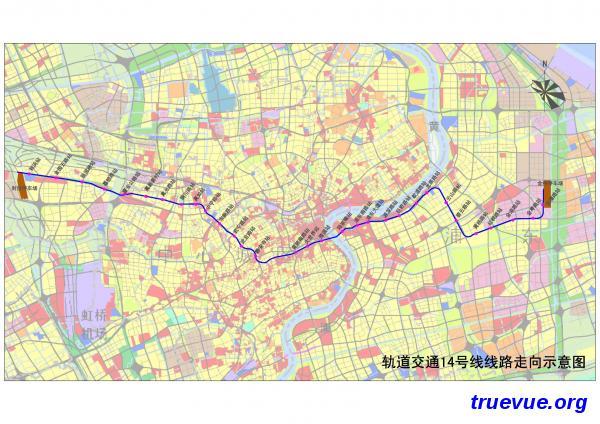 上海地铁14号线规划图